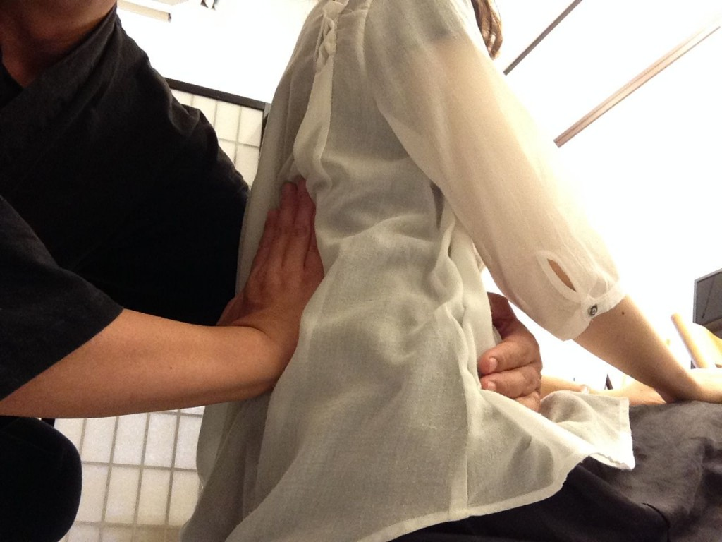 腰椎回旋変位調整